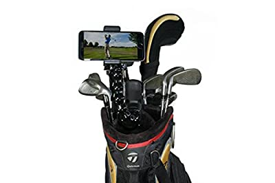 Golf Gadgets - Swing Recording System | Jaws Clamp & Gooseneck Mount for Smartphone. Compatible with iPhones, Samsung Galaxy, HTC, Any Phone, etc. (Jaws Clamp) by Cellfy Inc.