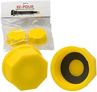 EZ-Pour Gas Can Cap – Solid Base Replacement Gas Tank Cap (Coarse Thread)