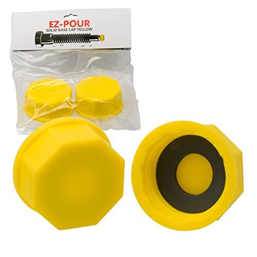 EZ-Pour Gas Can Cap - Solid Base Replacement Gas Tank Cap (Coarse Thread)