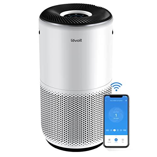 LEVOIT Purificador de Aire Inteligente WiFi con Filtro HEPA H13, CADR 400m³/h, Hasta 83m² con Sensor PM2.5, Compatible con Alexa, Elimina 99,97% de Alergia Humo Polen Ácaros Pelo de Mascota Core 400S