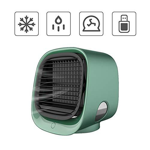 Mini-Luftkühler tragbarer Luftkühler persönlicher leiser Luftkühler mit 3 Windgeschwindigkeiten für Büro Schlafzimmer Wohnzimmer Nachttisch (grün) Kacsoo
