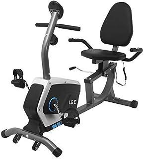 comprar comparacion ISE Bicicleta Estática de Spinning Ejercicio Gimnasio con 8 Niveles de Resistencia, Sensor de Pulso, Bicicleta Elíptica de...