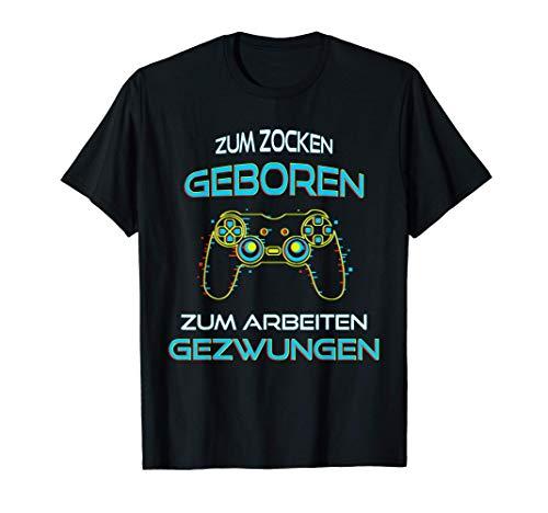Gaming zocken Konsole PS5 Geburtstag Gamer Geschenk T-Shirt