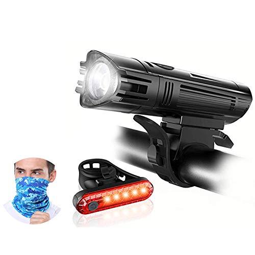 LED Fahrradlicht Fahrradbeleuchtung Mountainbike Fahrradlampe Set Aufladbar üBer USB Einfache Montage Abnehmbar Regensicher Radfahren Nachtlichter-G
