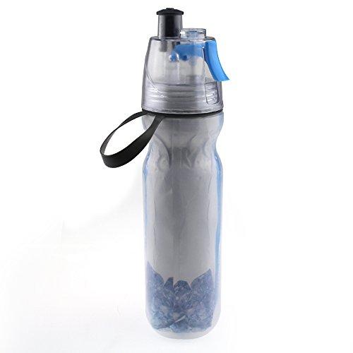Escomdp - Borraccia termica portatile con nebulizzatore, 500 ml, colore: blu
