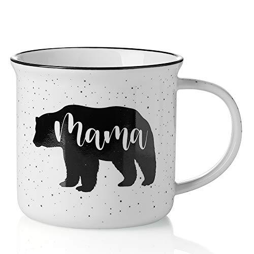 Mugaholics Funny Coffee Mugs for Mom - Mama Bear Mug Birthday Gifts for Mom from Daughter, Son, Kids, Husband - Mother's Day Mom Gifts New Mom Gift Mom Mug 15oz Cute Coffee Mug Tea Cup, White CM-04