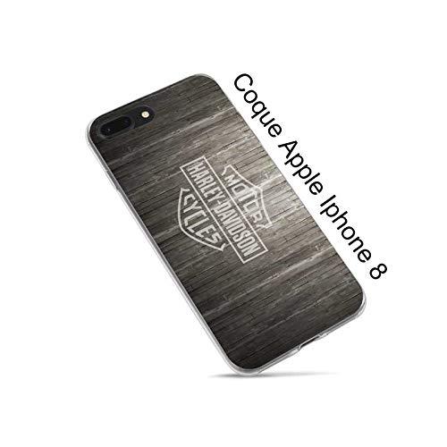 Super FABRIQUE - Cover morbida in silicone per Apple iPhone (7/8 Plus - X/XR/XS/XS Max/11/11Pro/11 Pro Max) con stampa Harley Davidson (iPhone 7/8/SE (2020)