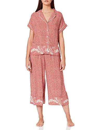 Women' Secret Short Sleeves Masculine Pyjama Pijama, Estampado Rojo, M para Mujer