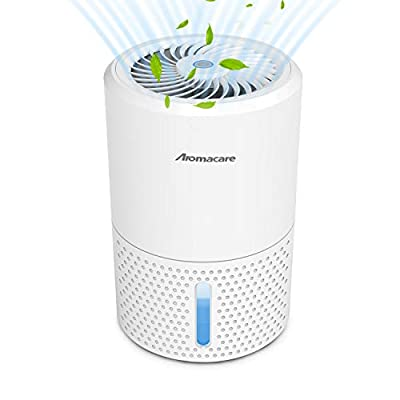 Aromacare Dehumidifier for Home, 32 Ounce Ultra Quiet Small Dehumidifier, Portable and Compact for 2200 Cubic Feet (215 sq ft) Use, Work for Gun Safe, Basements, Bedroom, Bathroom, Garage, Wardrobe by Aromacare