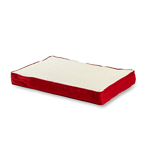Happy Hounds Oscar Orthopedic 30 by 42-Inch Dog Bed, Medium, Crimson