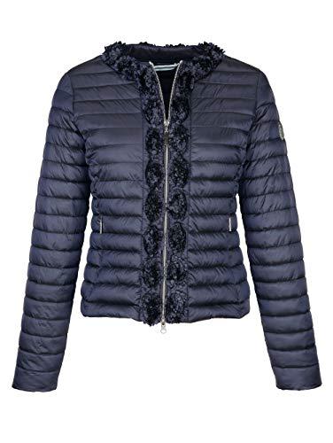 Alba Moda Jacke mit Blütenborte Marineblau