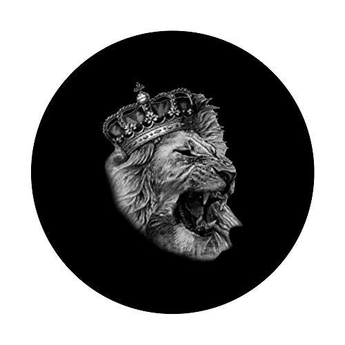 Der Löwe ist der König mit seiner Krone für Herren und Damen - PopSockets Ausziehbarer Sockel und Griff für Smartphones und Tablets
