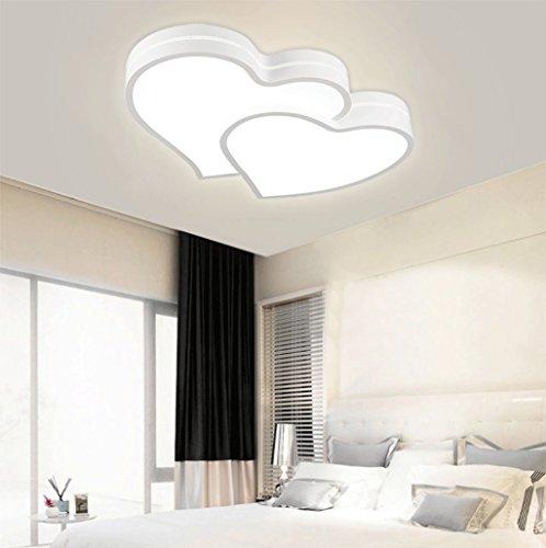semplice romantico creativo per bambini a soffitto camera plafoniera luce camera da letto moderna del LED a forma di cuore