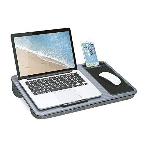 Redlemon Mesa para Laptop Ergonómica con Soporte para Celular y Mouse Pad, Base con Doble Almohadilla Acolchonada y Asa Portátil,...