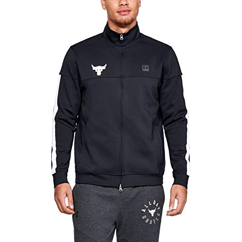 Under Armour Men's Project Rock Track Jacket (Small) Black/White