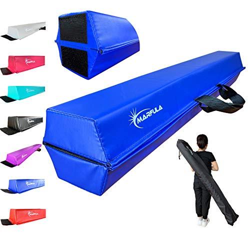MARFULA 6 FT / 8 FT / 9 FT / 10 FT Balance Beam Folding Floor Gymnastics Equipment for Kids, Non Slip Base, Gymnastics Beam for Training Home Gym Use