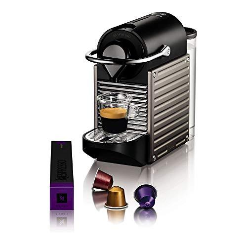 Krups Nespresso Pixie Machine à café automatique Machine à capsules titane
