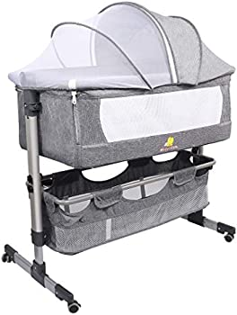 Hicrifth 2 in 1 Portable Bedside Sleeper with Mattress & Storage Bag