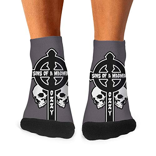 OZZY OSBOURNE sins of a madman Men Training Socks Low Cut Outdoor OZZY-OSBOURNE-sins-of-a-madman- Socks