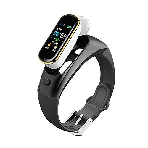YZY Pulsera Actividad, Auricular Bluetooth Inteligente Pulsera 2 en 1 y un Precio Sleep Heart Monitor de Color de Pantalla Reloj podómetro for la Mujer de los Hombres