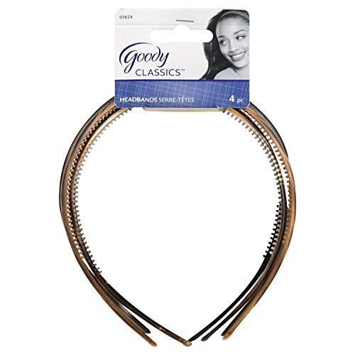 Goody WoMens Classics Headband, Assorted, Pattern, 4 Count
