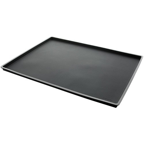 Lekue 12 by 16-Inch Non-Spill Baking Sheet, Black