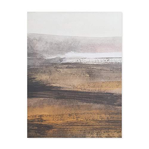 LiMengQi Escena del mar Abstracta Moderna Pinturas nórdicas Carteles e Impresiones Imágenes de Arte de Pared para la Sala de Estar Decoraciones para el hogar (sin Marco)
