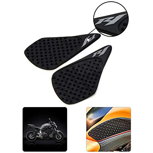Motorcycle Waterproof Rubber 3D Fuel Gas Tank Side Pad Cover Knee Protection For Yamaha YZF R1 2007 2008
