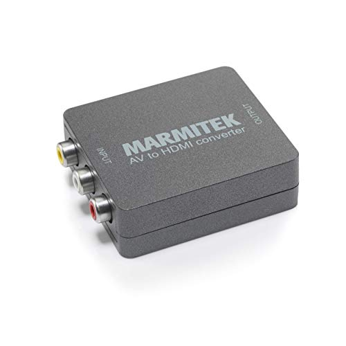 RCA auf HDMI Konverter - Marmitek Connect AH31-1080p Full HD - Keine Software notwendig - Composite - SCART - PAL - NTSC - AV HDMI Adapter - Schließen Sie alte Geräte an Neue Fernseher an