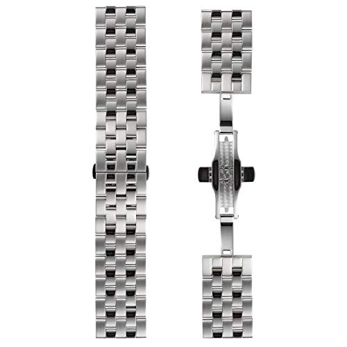 DETOMASO Uhrenarmband Milanaise Edelstahl-Armband 20mm 22mm 24mm mit Schnellwechsel Federsteg (22mm, Edelstahl - Silber)
