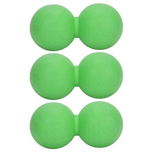 Bola de movilidad de bola de cacahuete de masaje doble para fisioterapia Herramienta de masaje de alta densidad para tejido profundo, bola de lacrosse doble Bola de masaje de entrenamiento de yoga Rel