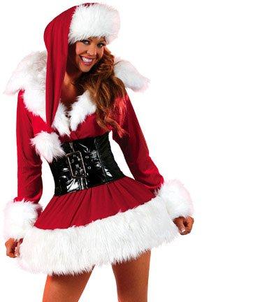 Toocool - Costume Babbo Natale Donna Vestito Carnevale Babba Travestimento Sexy DL-438