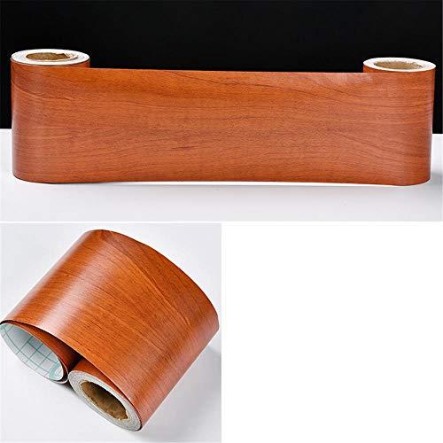 Borde del papel pintado Madera de sapeli Clásico Auto Adhesivo del Papel Pintado del PVC Cenefa autoadhesiva para decoración de pared de cocina baño 8 cm X 1000 cm