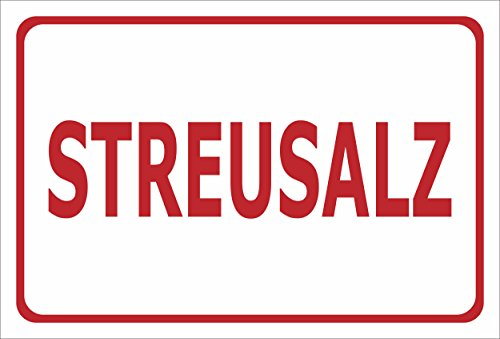 Melis Folienwerkstatt sticker schild - strooi-zout - S00018-087-E