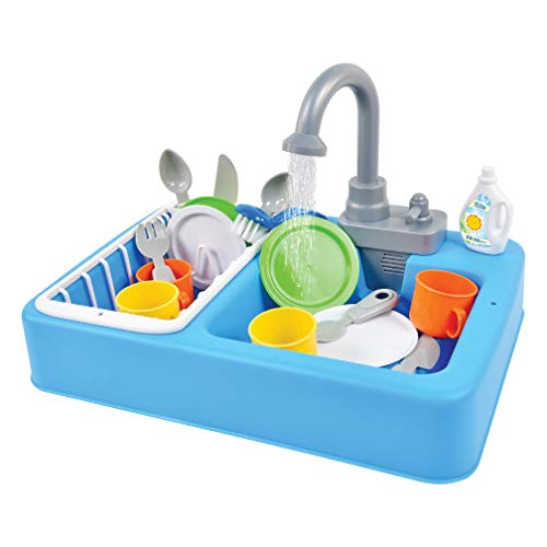 Sunny Days Entertainment Kitchen Sink Play Set with Running...