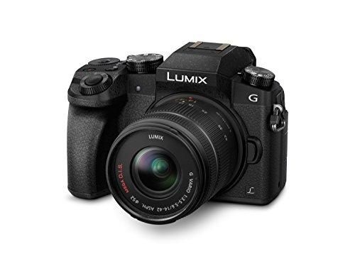 Panasonic Lumix G70KA Starterkit 16 MP, 4K Video, 7,5 cm (3 Zoll) Touchscreen, WiFi, NFC (inkl. 16 GB SD Karte und Tasche) & Rode VideoMicro kompakt On Camera Microphone - sortierte Farben