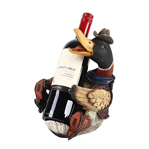 JIAHE115 Weinregal Weinflaschenhalter, kreative Ente Weinregal Harz Rotwein Weinregal Retro Style und Rustikaler Stil Geeignet for Bar Cafe Dekoration Dekoration