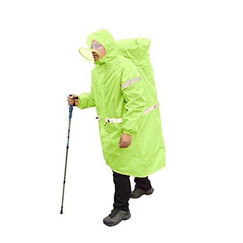 cloudwhisper Outdoor Regenmantel Rucksack ONE-PIECE-Regenmantel Poncho Regen Cape Outdoor Wandern Camping Unisex Regen Gear