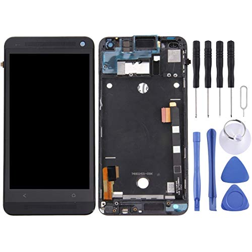 SHUFEIVICC LCD-Display + Touch Panel mit Rahmen for HTC One M7 / 801e (Schwarz) (Color : Silver)
