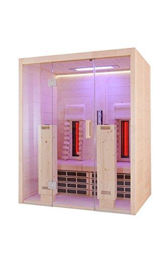 Infrarotkabine VitaMy 164 S & L Vollspektrumstrahler Massivholz Sound Light