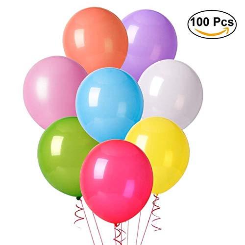 Luftballon 100 Stücke, Luftballons Hochzeit Ballon Partyballon Latexballons metallisch Glanz Bunte Ballons Spielzeug für Kindergeburtstag Hochzeits Geburtstagsfeier Party (Mehrfarbig)