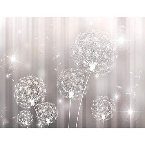 Fototapete Blumen Pusteblume 352 x 250 cm Vlies Tapeten Wandtapete XXL Moderne Wanddeko Wohnzimmer Schlafzimmer Büro Flur Schwarz Weiss 9397011c