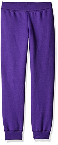 Hanes Girls' Big ComfortSoft EcoSmart Fleece Jogger Pants, Purple Thora, M