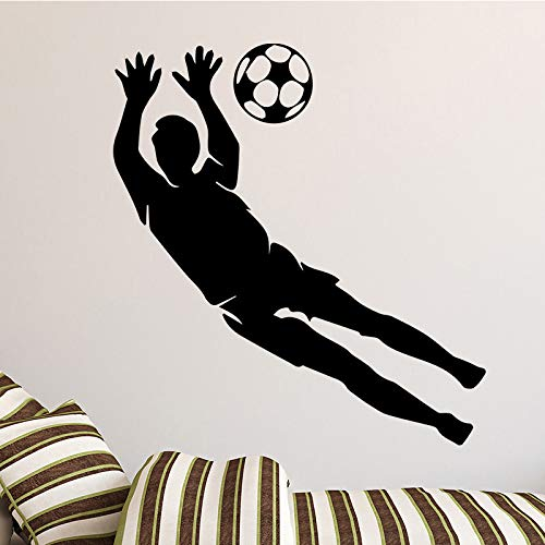 Goalkeeper Wall Sticker Wall Decals For Bedroom Kids Room Decoration Accessories Wall Decor Sticker Mural Yellow XL 58cm X 62cm