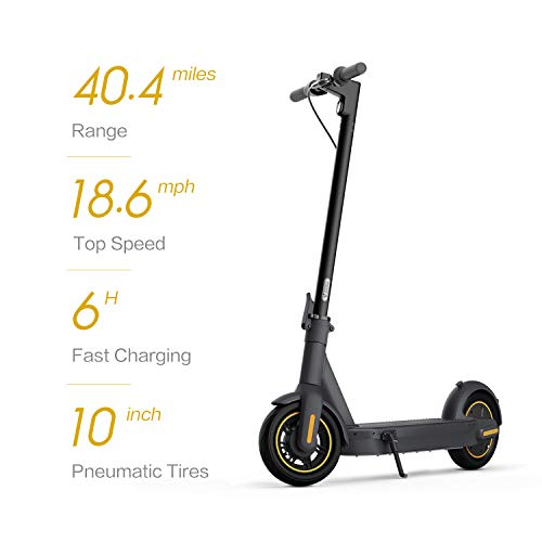 Segway Ninebot MAX Electric Kick Scooter (G30P), Up to 40.4 Miles Long-range Battery, Max Speed 18.6 MPH, Foldable and Portable, Dark Gray