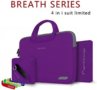 """Cartinoe 4in 1パッケージBreath Serise Limited Editionナイロンライクラ生地13インチLeggiere Laptop Bag for MacBook Air & MacBook Proノートパソコン""""パープル"""" -powered by Hausbell"""