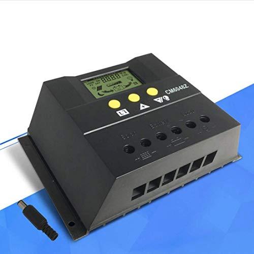 KAIBINY Controlador de Cargador Solar Regulador de Panel Solar LCD Visualización de Cristal líquido PWM Carga 60 A 48 V Sensor de Temperatura Protección de sobrecarga (Edición: CM6048Z)