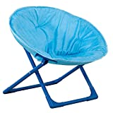 Amazon Basics Kids Folding Moon Indoor Papasan Chair for Toddlers - Solid Blue