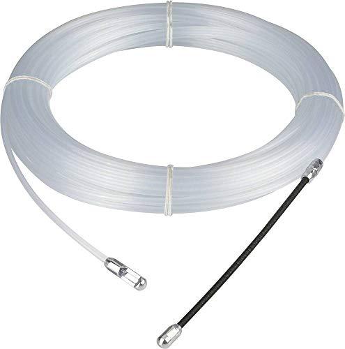 REV 0579503555 PVC Einziehspirale, Kabel Einzugshilfe, 20m, transparent