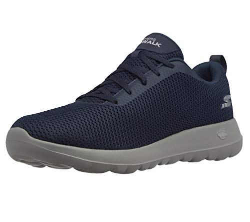 Skechers Performance Go Walk MAX-Effort, Zapatillas Deportivas Hombre, Azul (NVGY Black Textile/Trim), 42.5 EU